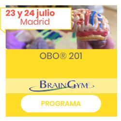 Imagen de OBO (cerebro) con fechas de julio y botón al programa del curso